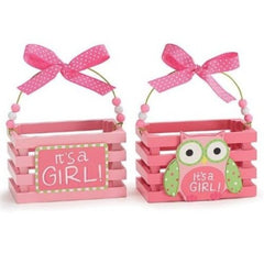 WHO'S CUTEST GIRL Pink Wood Crate Set - Pack of 3 Sets