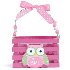 WHO'S CUTEST GIRL Pink Wood Crates