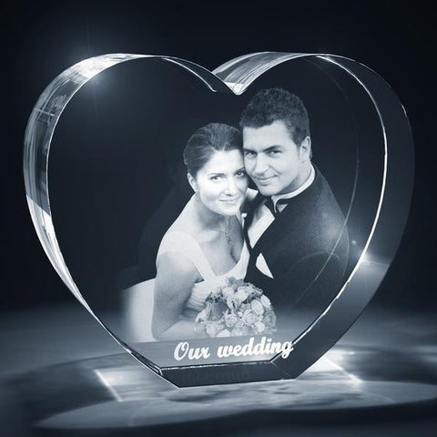 Picture of Heart Shaped 3D Photo Crystal