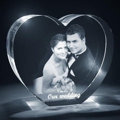 Heart Shaped 3D Photo Crystal