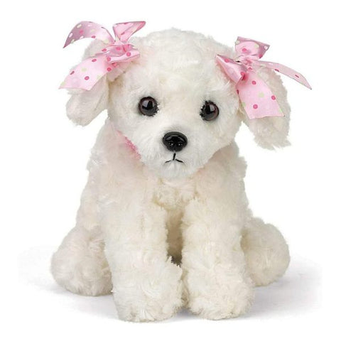 Picture of White Plush Stuffed Puppy Dog Sassy