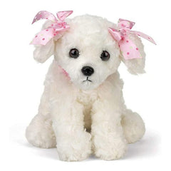White Plush Stuffed Puppy Dog Sassy