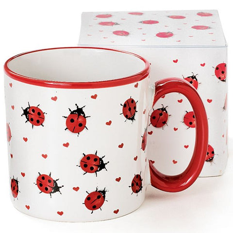 Picture of White Lovely Ladybug Coffee Mug - 6 Pack