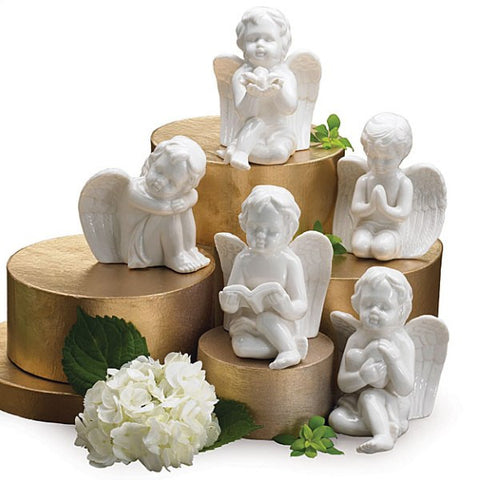 Picture of White Porcelain Cherub Angels