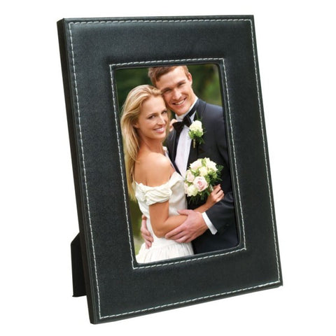 Picture of White Stitch Easel Picture Frame