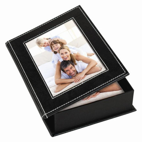 Picture of White Stitch Memory Photo Box