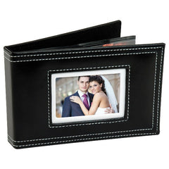 White Stitch Photo Album with Cameo Cover