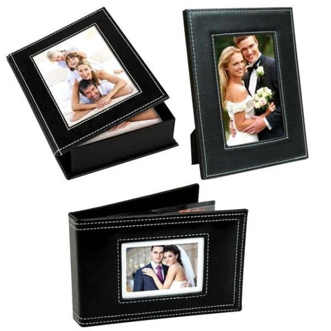 Picture of White Stitch Photo Wedding Set