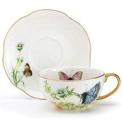 Wings of Grace Porcelain Teacup and Saucer Sets - Pack of 2 Sets
