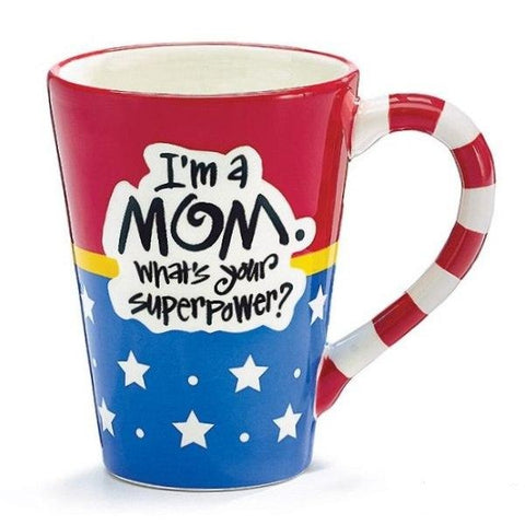 Picture of Wonder Woman Mom SuperPower 12 oz. Coffee Mugs - 4  Pack