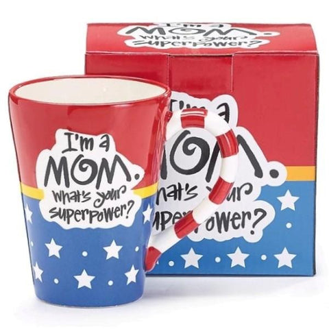 Picture of Wonder Woman Mom SuperPower 12 oz. Coffee Mug