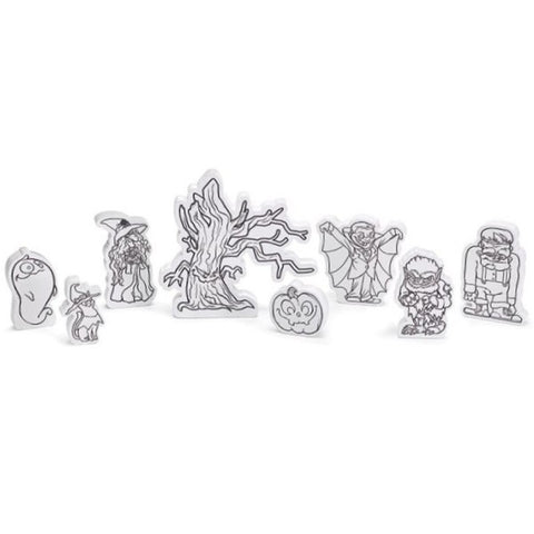 Picture of Wooden Color Me Halloween Characters 8 Piece Set