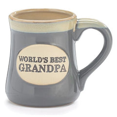 World's Best Grandpa Porcelain Mugs - 6 Pack