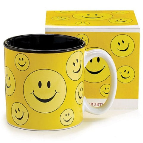 Picture of Yellow Smiley Face All Around 13 oz. Ceramic Mugs - 6 Pack