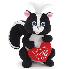 You're So Stinkin' Cute Plush Skunks - 4 Pack