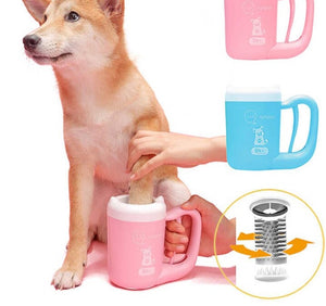Pet Cat Dog Foot Wash Clean Cup Paw Cleaning Tool Manual Rotary Cleaner Cup Soft Silicone For Small Medium dogs