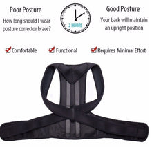 Load image into Gallery viewer, Aptoco Posture Corrector Back Posture Brace Clavicle Support Stop Slouching and Hunching Adjustable Back Trainer Unisex