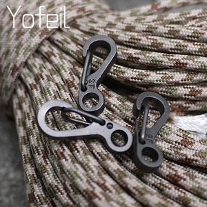 10 Pcs Equipment Survival EDC Paracord Carabiner Snap Mini SF Spring Clip Camping Hiking Hook Backpack Tactical Buckle Clip