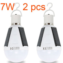 Load image into Gallery viewer, Rechargeable Led Bulb E27 LED Solar Lamp 7W 12W 85V-265V Outdoor Emergency Solar Powered Bulb travel Fishing Camping Light