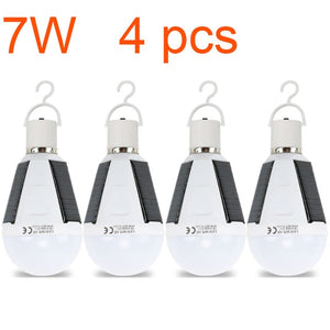 Rechargeable Led Bulb E27 LED Solar Lamp 7W 12W 85V-265V Outdoor Emergency Solar Powered Bulb travel Fishing Camping Light