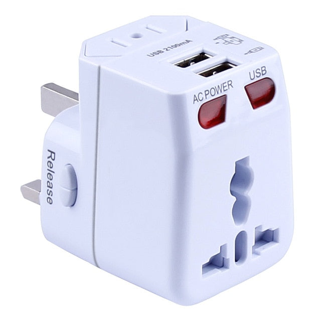 Universal Travel Adapter International Wall Charger AC Plug Adaptor with 5.6A Smart Power and 3.0A USB Type-C for US EU UK AU