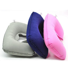Load image into Gallery viewer, 1pcs U-Shape Travel Pillow for Airplane Inflatable Neck Pillow Travel Accessories 6 Colors Comfortable Sleep Pillows Dropship