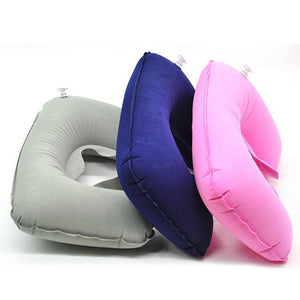 1pcs U-Shape Travel Pillow for Airplane Inflatable Neck Pillow Travel Accessories 6 Colors Comfortable Sleep Pillows Dropship