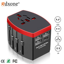 Load image into Gallery viewer, Rdxone Travel Adapter International Universal Power Adapter All-in-one with Type C 3 USB Worldwide Wall Charger for UK/EU/AU/US