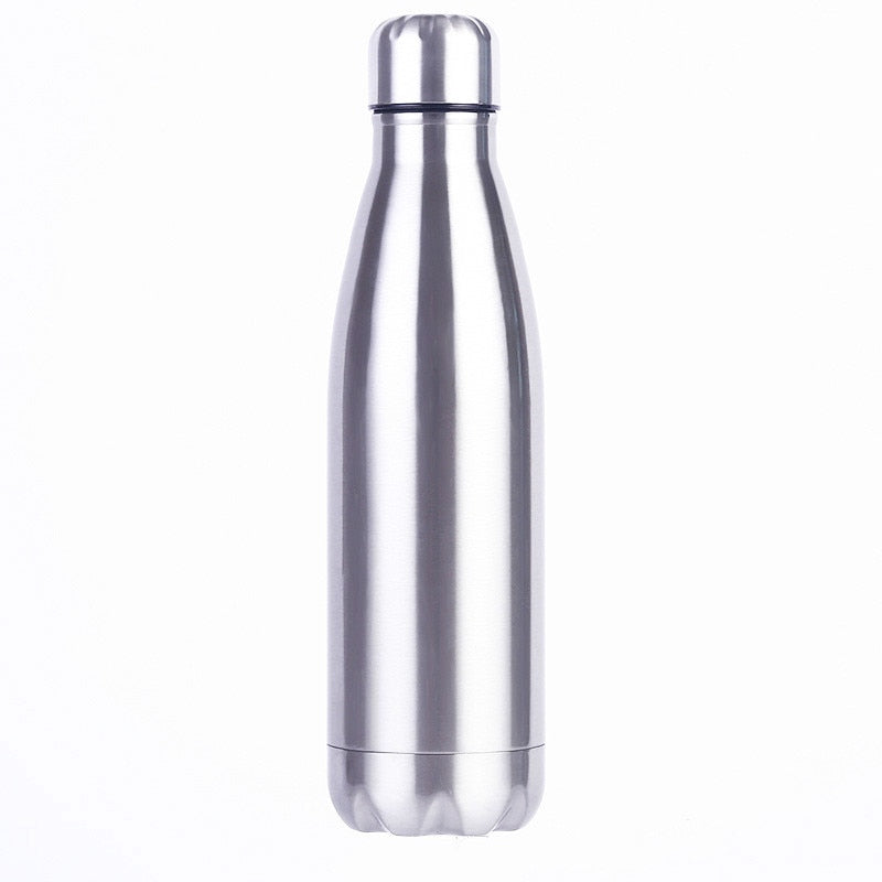 Stainless Cola Motion Sport Water Bottle Rugged Water Cup Monolayer No Heat Preservation Metal Color Cola Drink Bottle Drinkware