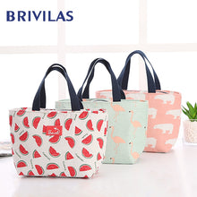 Load image into Gallery viewer, Brivilas lunch bag  for women funny cartoon kids bento cooler bags flamingo thermal breakfast food box portable picnic travel