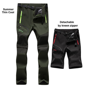 Men New Summer Hot season Hiking Trekking Fishing Camping Climb Run Trousers Plus Size Oversized Waterproof Outdoor Pants