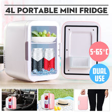 Load image into Gallery viewer, DC 12V 4L Car Refrigerators Ultras Quiet Low Noise Car Mini Refrigerators Freezer Cooling Heating Box Fridge Home Outdoor
