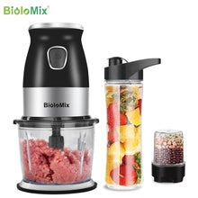 Load image into Gallery viewer, BPA FREE 500W Portable Personal Blender Mixer Food Processor With Chopper Bowl 600ml Juicer Bottle Meat Grinder Baby Food Maker