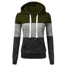 Load image into Gallery viewer, Patchwork Hoodies Sweatshirts Women Casual Pullover Tops  Jumper Hooded Sweatshirt Female Hoodie Sudadera Plus Size S-5XL