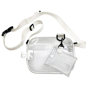 Causual PVC Transparent Clear Woman Crossbody Bags Shoulder Bag Handbag Ptgir Small Phone Bags with Card Holder Wide Straps Flap
