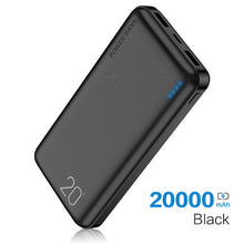Load image into Gallery viewer, FLOVEME Power Bank 20000mAh Portable Charging Poverbank Mobile Phone External Battery Charger Powerbank 20000 mAh for Xiaomi Mi