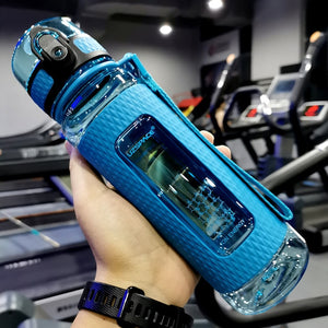 UZSPACE Sport Water Bottles Portable Gym anti-fall Leak-proof large Capacity fitness Kettle Tritan Plastic Drink bottle BPA Free