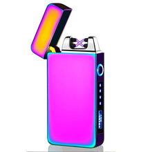 Load image into Gallery viewer, USB Electric Lighter Finger print Touch Fire Plasma Double Arc Lighter Windproof Metal Cigarette Lighters Men Gift Drop shipping