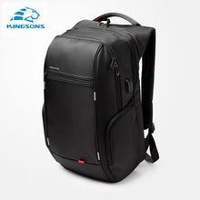 "Load image into Gallery viewer, Kingsons 15""17""  Laptop Backpack External USB Charge Computer Backpacks Anti-theft Waterproof Bags for Men Women"