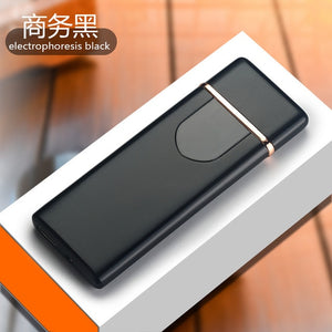 Charging lighter Touch induction windproof electronic ultra-thin USB cigarette lighter custom Metal