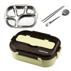 ONEUP Portable 304 Stainless Steel Lunch Box 2020 New Hot Japanese Style Compartment Bento Box Kitchen Leakproof Food Container
