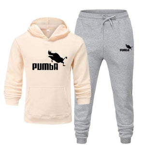 New Pumba Two Pieces Hoodie Batman Hooded Men Casual Cotton Fall / Winter Warm Sweatshirts Men's Casual Tracksuit Costume S-XXXL