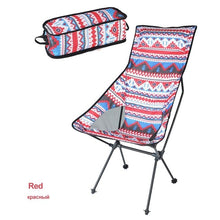 Load image into Gallery viewer, HooRu Backrest Chair Beach Hiking Fishing Folding Chair Outdoor Portable Lightweight Backpacking Camping Chairs with Carry Bag