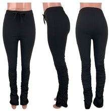 Load image into Gallery viewer, stacked leggings joggers stacked sweatpants women ruched pants legging jogging femme stacked pants women sweat pants  trousers