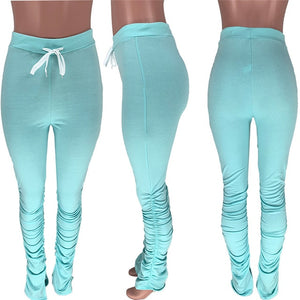 stacked leggings joggers stacked sweatpants women ruched pants legging jogging femme stacked pants women sweat pants  trousers