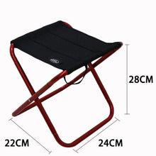 Load image into Gallery viewer, Quality Outdoor Foldable Fishing Chair Ultra Light Weight Portable Folding Camping Aluminum Alloy Picnic Fishing Chair with Bag