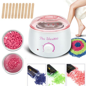Electric Wax Heater Waxing Machine For Hair Removal Body Epilator Paraffin Wax kit With 300g Wax Beans 1 chauffe cire