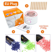 Load image into Gallery viewer, Electric Wax Heater Waxing Machine For Hair Removal Body Epilator Paraffin Wax kit With 300g Wax Beans 1 chauffe cire