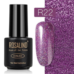 ROSALIND Gel Nail Polish Nail Art Vernis Semi Permanant UV Primer Manicure 7ML Top Coat Primer Gel Lak Hybrid Nail Polishes