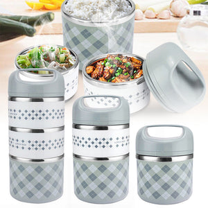 Portable Stainless Steel Thermal Lunch Box For Office Lunchbox Leakproof Thermos Lunch Box Food Container